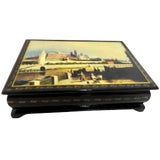 Image of Waterfront at the Kremlin on a Russian Lacquer Box For Sale