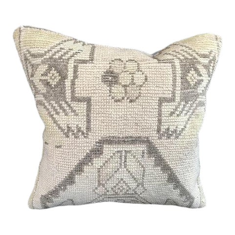 1960's Oushak Antique Hanmade Pillow Case For Sale