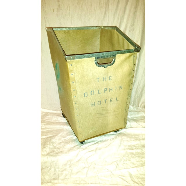 Dolphin Hotel 1960 Industrial Laundry Cart - Image 2 of 10