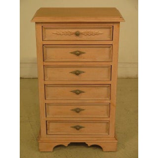 French Country Lexington 6-Drawer White Washed Chests - a Pair Preview