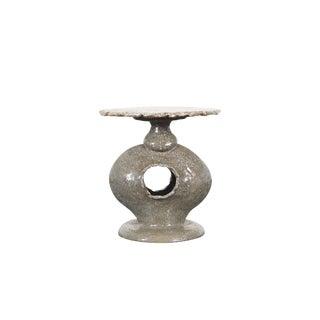 Vintage Ceramic Studio Pottery Table For Sale