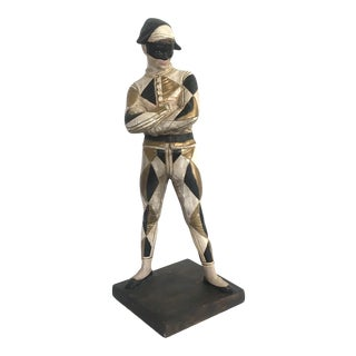 Mid Century Harlequin Statue For Sale