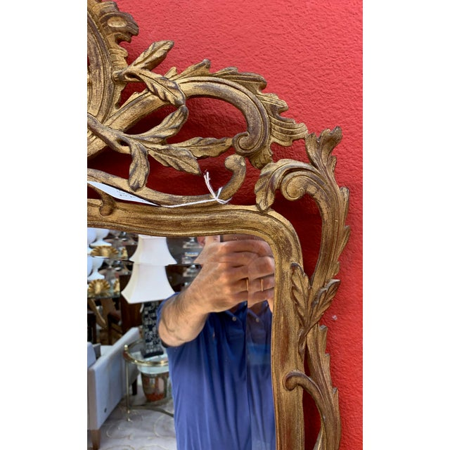Giovanni Chelini Baroque Hand Carved Mirror For Sale - Image 4 of 6