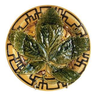 French Large Majolica Chesnut Leaf Platter, circa 1880 For Sale