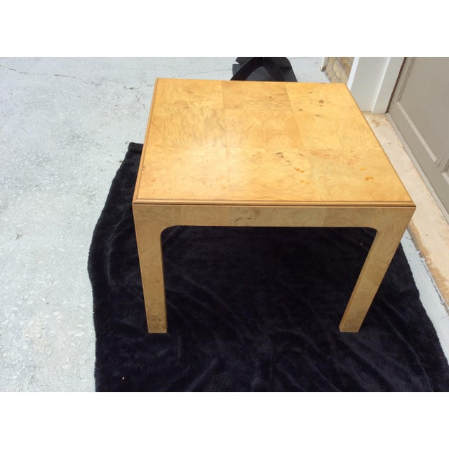 Henredon Mid Century Modern Henredon Scene Two Burlwood Table For Sale - Image 4 of 11