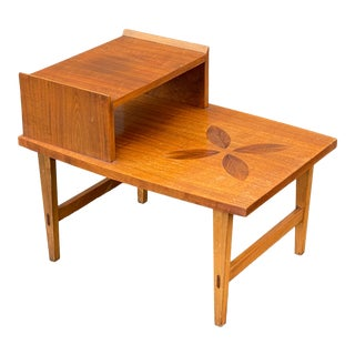 Lane Rosewood Inlay Accent Table For Sale