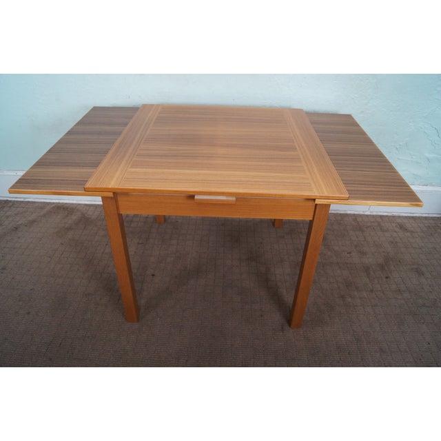 Danish Modern Teak Refractory Square Dining Table - Image 3 of 10