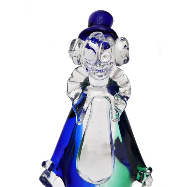 1960s Signed Archimede Seguso Murano Art Glass Clown For Sale - Image 5 of 7