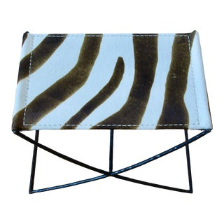 Petite Hadley Bench With Zebra by Oly Studio For Sale