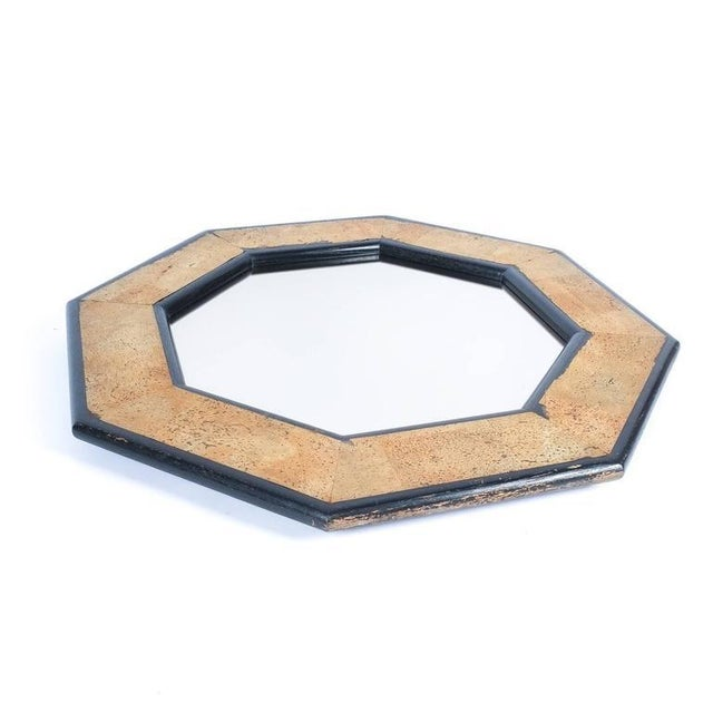 Mid-Century Modern Cork and Wood Mirror by Peter Maly, circa 1970 For Sale - Image 3 of 4