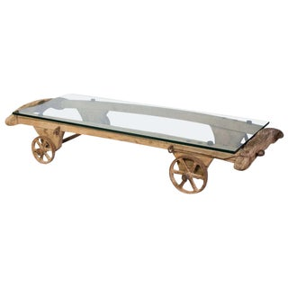 Large Coffee Table Cart on Wheels For Sale