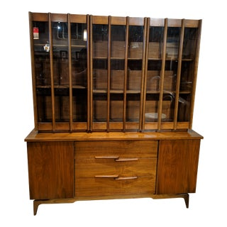 Vintage Young Furniture China Cabinet For Sale