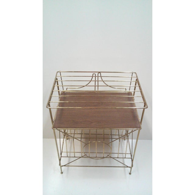 Mid-Century Modern Brass Record Racks - A Pair - Image 6 of 6
