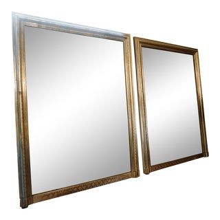 Louis Philippe Silver Mirrors - a Pair For Sale