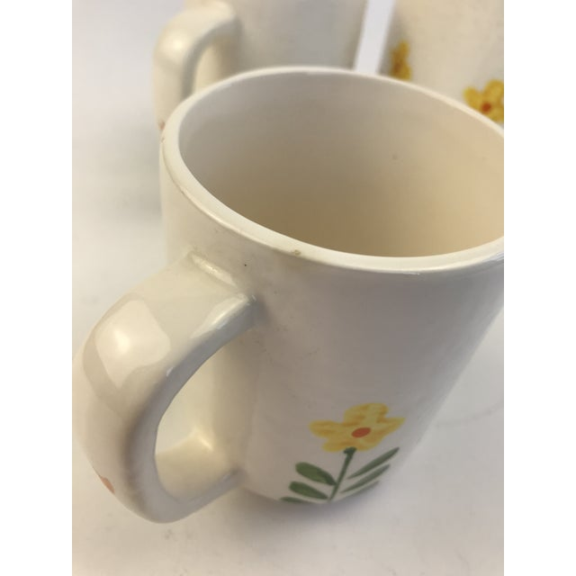White 1960's Japanese Coffee Cups and Canister - Set of 5 For Sale - Image 10 of 11