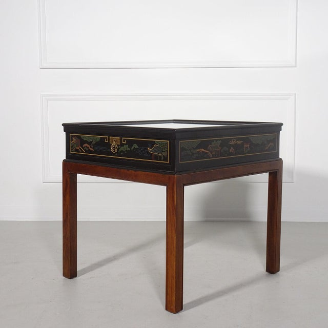 1970s Drexel Heritage Chinoiserie Chippendale Side Table For Sale - Image 5 of 12