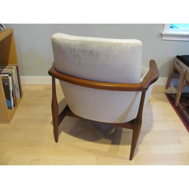 Arne Vodder Vintage Mid Century Finn Juhl Style Lounge Chair For Sale - Image 4 of 13