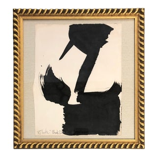 "Original Vintage Robert Cooke Abstract ""Black Duck"" Painting For Sale"