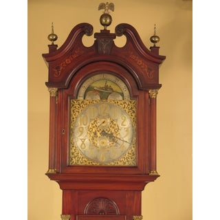Waltham Antique Carved & Inlaid Mahogany Grandfather Clock Preview