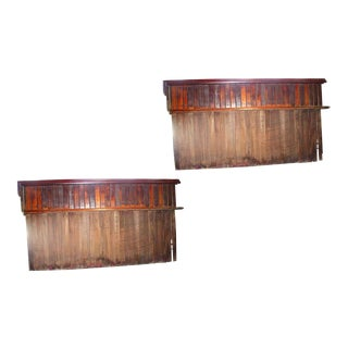 Mahogany Bead Board Divider Panels - a Pair For Sale
