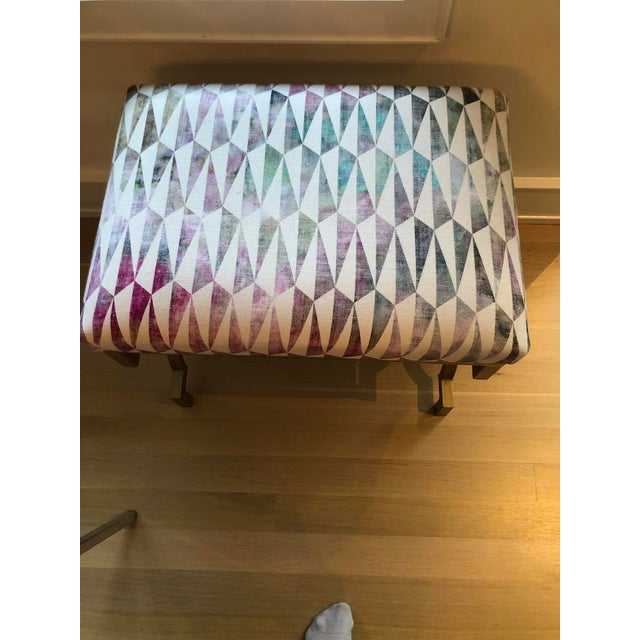Contemporary Modern Scalamandre Upholstered Benches - a Pair For Sale - Image 3 of 7
