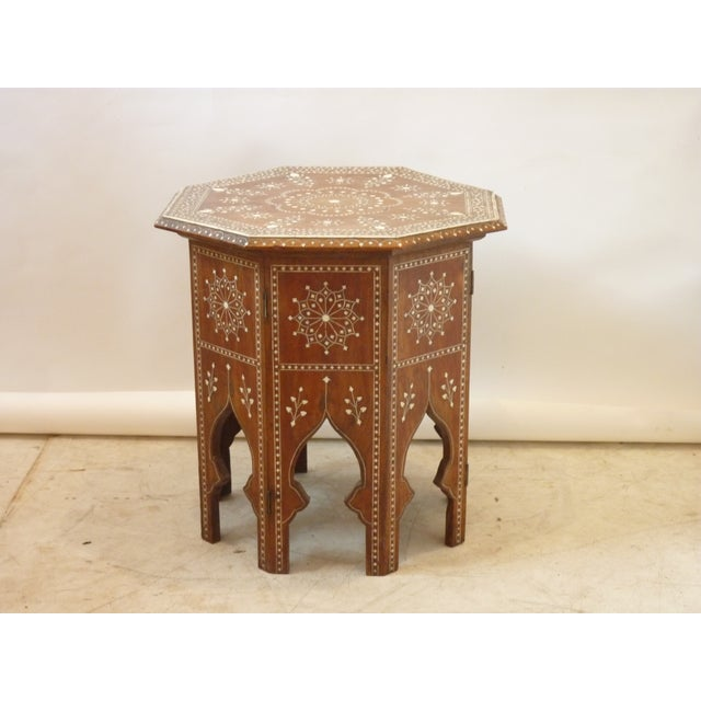Islamic 20th Century Moroccan Octagonal Low Table For Sale - Image 3 of 5