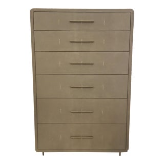 Interlude Home Calypso Gray Tall Chest For Sale