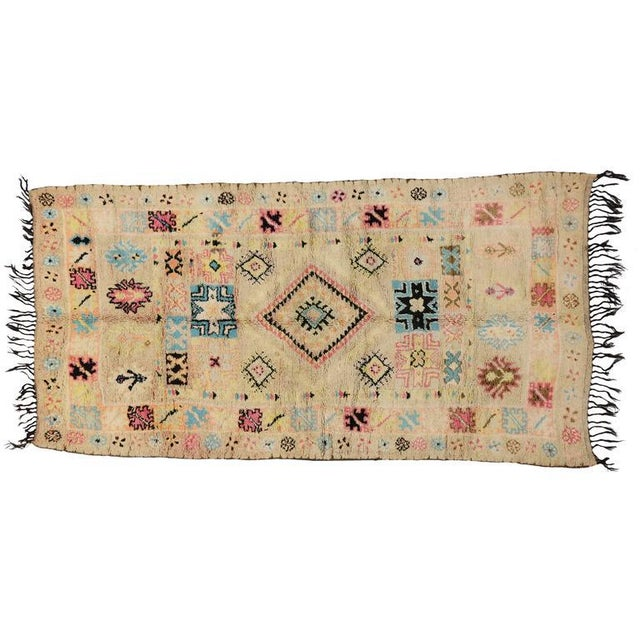 White Vintage Berber Moroccan Rug With Bohemian Postmodern, 5'9 X 11'7 For Sale - Image 8 of 10