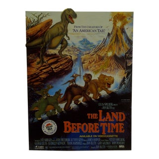 """The Land Before Time"" Movie Advertising Cardboard Sign For Sale"