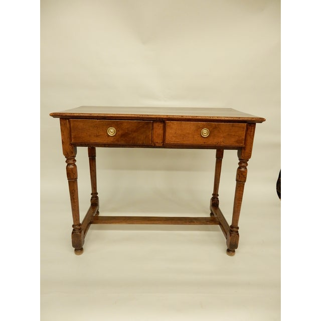 Walnut Early 19th Century Italian Walnut Side Table/Console For Sale - Image 7 of 7
