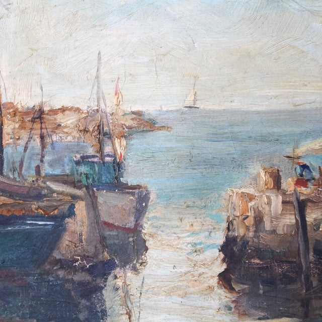 Daisy Thayer Wright Vintage 1940 Nautical Painting For Sale - Image 5 of 8