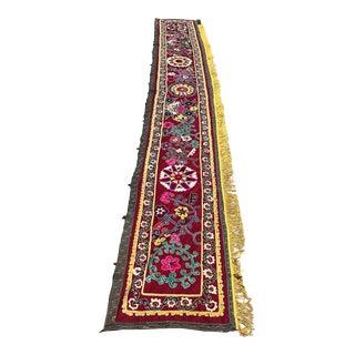 Vintage Crochet Silk Suzani For Sale