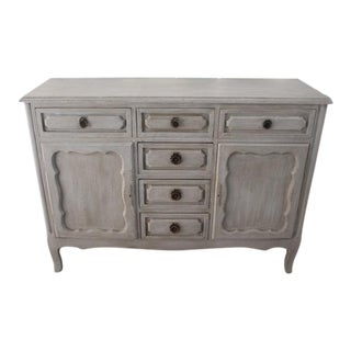 20th Century Shabby Chic French Style Painted Sideboard For Sale