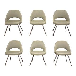 Original Eero Saarinen Knoll Dining Chairs - Set of 6 For Sale