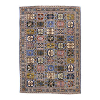 Rabat Moroccan Rug With Compartment Design - For Sale
