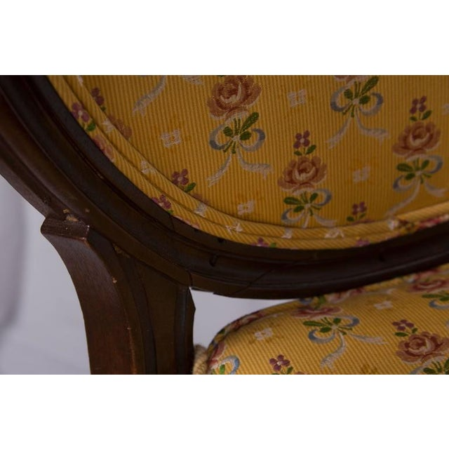 Louis XVI 19th Century Walnut Caned Musician's Chairs For Sale - Image 3 of 7