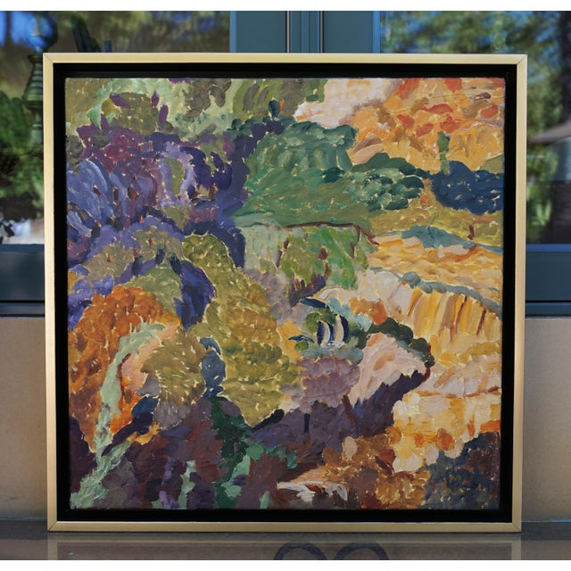 """""""Microclimates"""" Abstract Landscape Painting by Laurie MacMillan, Framed For Sale In Los Angeles - Image 6 of 6"""