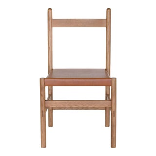 Juniper Chair by Sun at Six, Sienna, Minimalist Chair in Wood and Leather For Sale