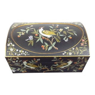 1990s Hand-Painted Bird Decorative Box For Sale