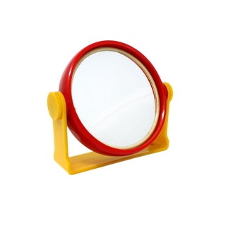 Mid-Century Modern Red & Yellow Mirror For Sale