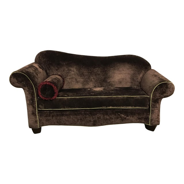 Curvy Velvet Sofa - Image 1 of 6