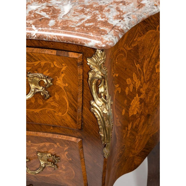 A 19th Century Inlaid Commode, Circa 1850 For Sale - Image 4 of 8