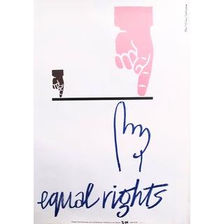 Original Poster for Artis 89's Images Internationales Pour Les Droits De l'Homme Et Du Citoyen - Equal Rights For Sale