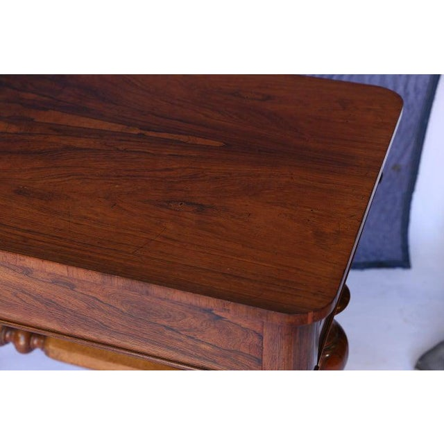 Antique English Console Table With Two Drawers For Sale - Image 4 of 13