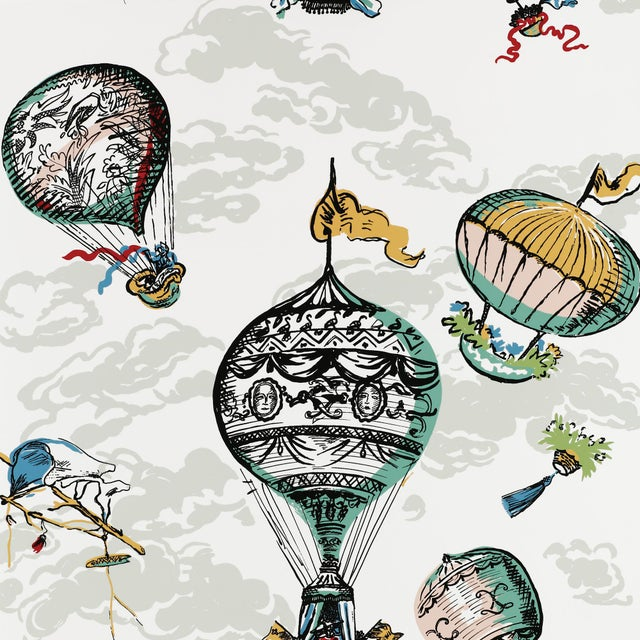 Contemporary Schumacher Balloons Wallpaper in Multi For Sale - Image 3 of 3