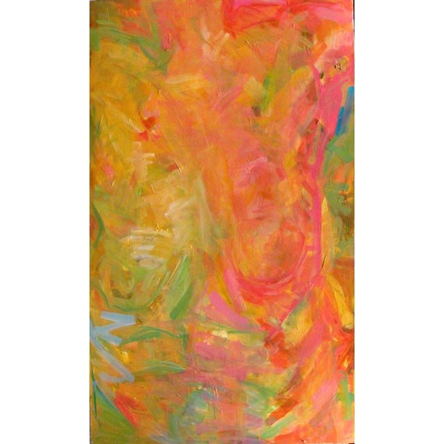 """Trixie Pitts Abstract Painting """"Bold Torso"""" - Image 1 of 2"""