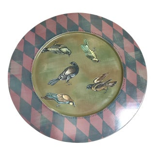 Tracy Porter Hand Painted & Signed Decorative Wood Tray