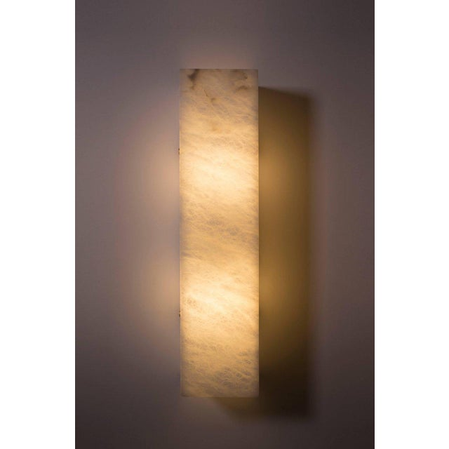 2010s Modern Contemporary 003a Sconce in Alabaster by Orphan Work For Sale - Image 5 of 6
