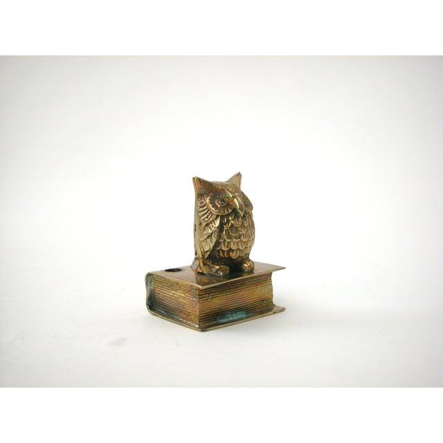 Vintage Brass Owl Pen Holder - Image 5 of 8