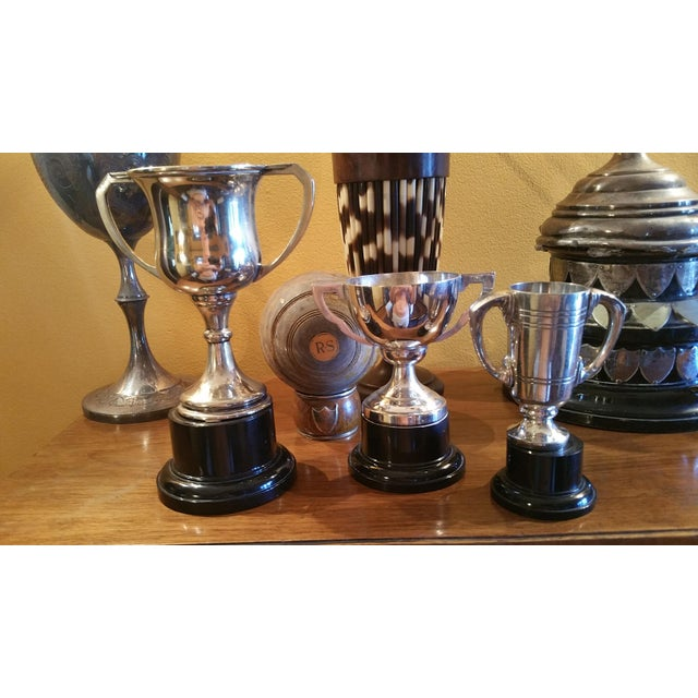 English Traditional Silver Plated Sport Trophies - Set of 3 For Sale - Image 3 of 4